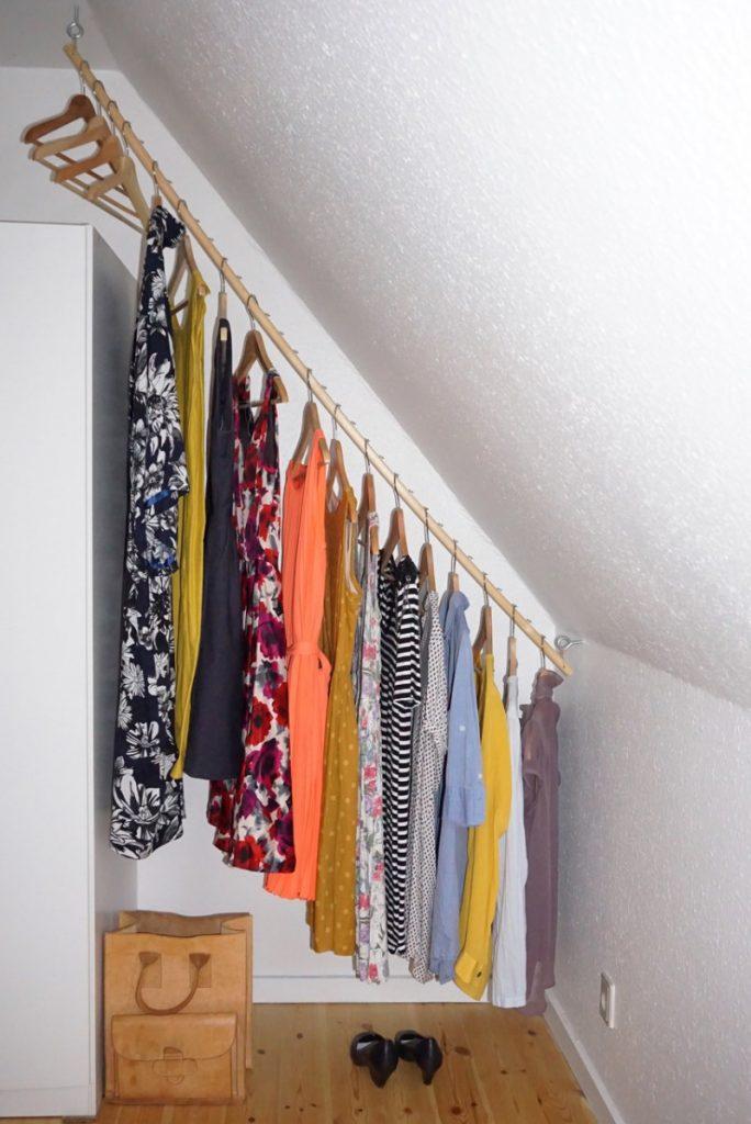skråvægge opbevaring tøj